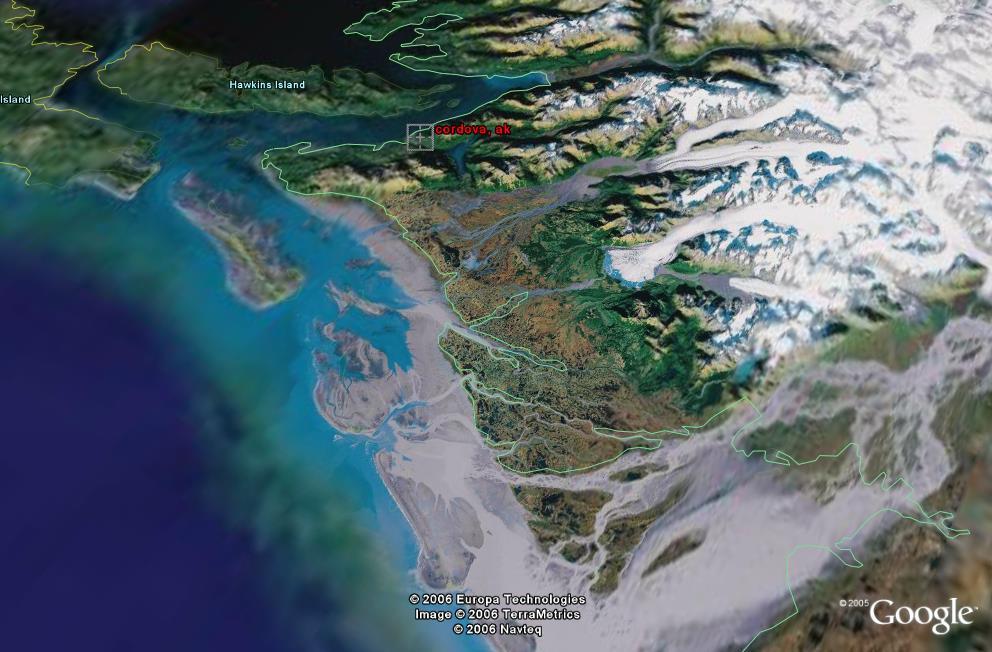 Valdez Alaska Map Alaska Area Map of