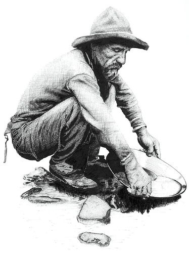 Gold Miner with goldpan